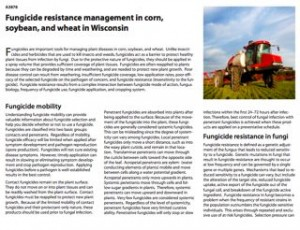 A3878 - Fungicide resistance management in corn, soybean, and wheat in Wisconsin
