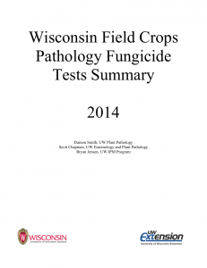 2014 Field Crops Pathology Fungicide Tests Summary